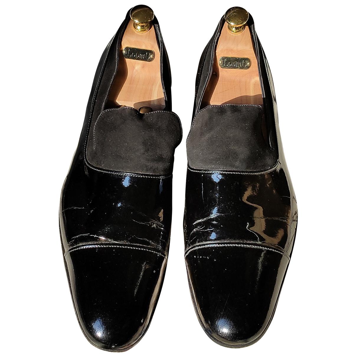 Hermès \N Black Patent leather Flats for Men 45 EU