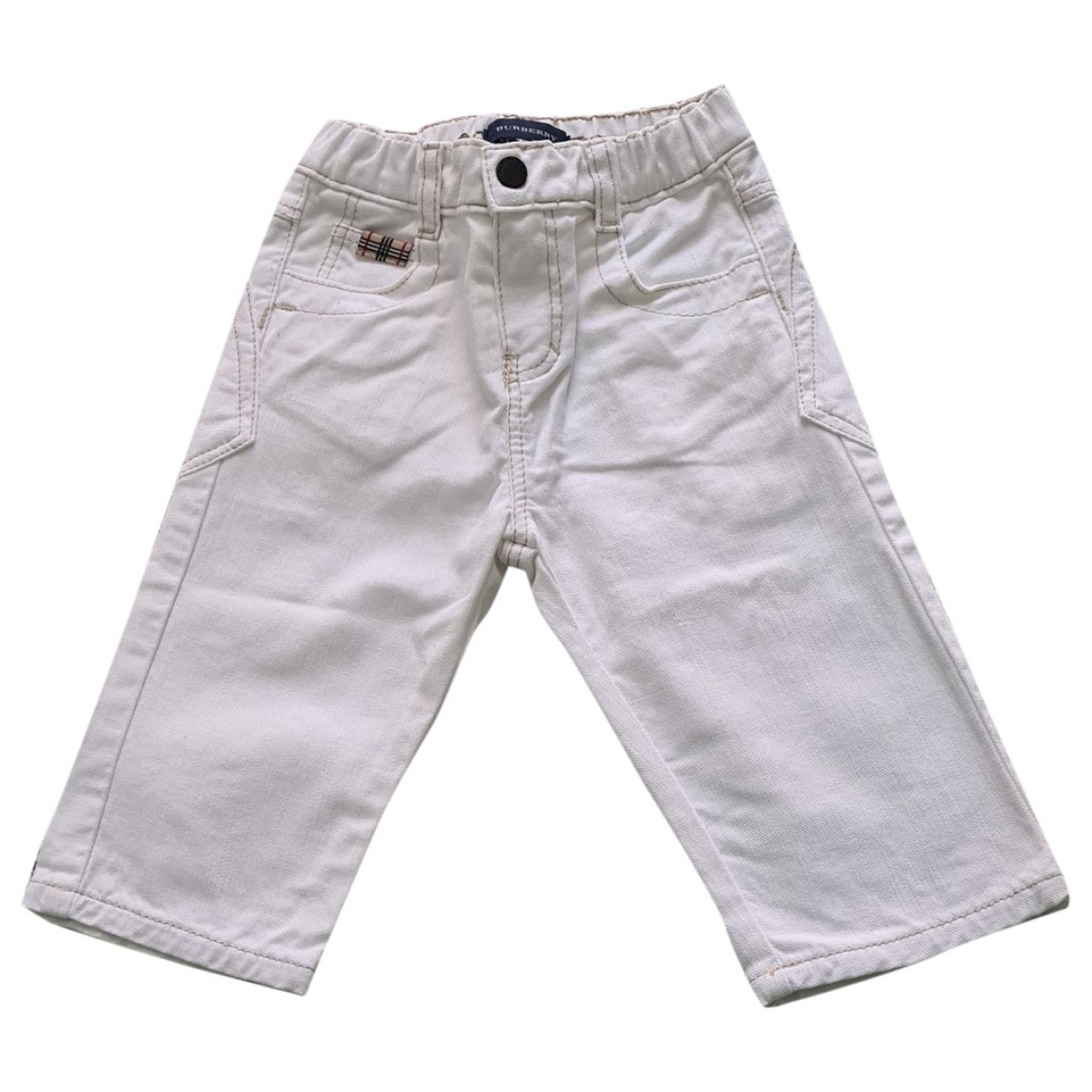 Burberry \N White Denim - Jeans Trousers for Kids 9 months - up to 71cm FR