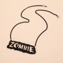 Halloween Letter Decor Necklace