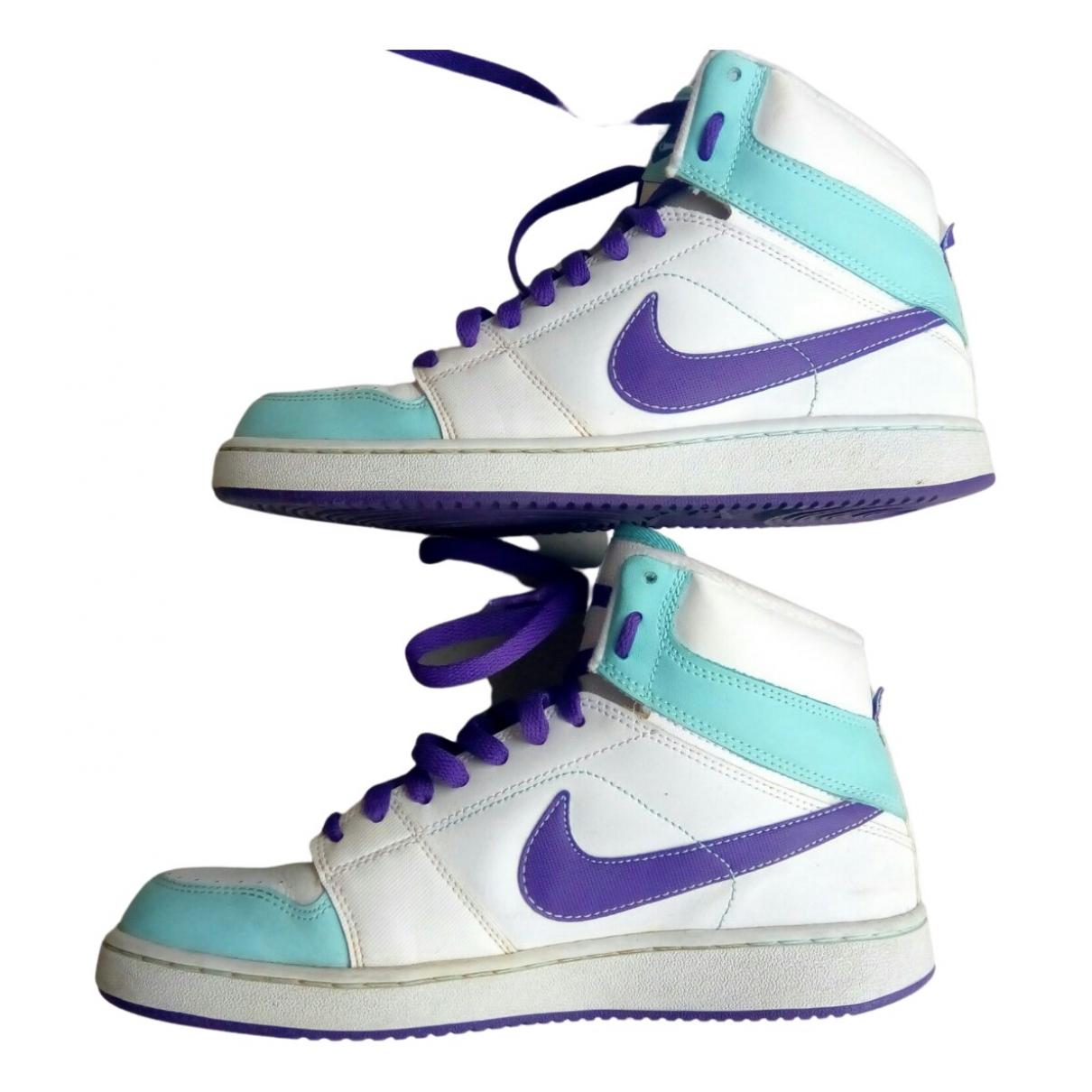 Nike - Baskets   pour femme en cuir - violet