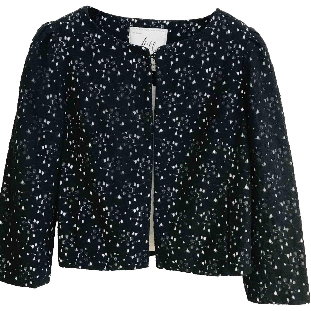 Milly \N Black Cotton jacket for Women 6 UK