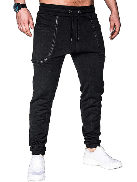 Yoins Men Fashion Zipper Binding Foot Sweatpants