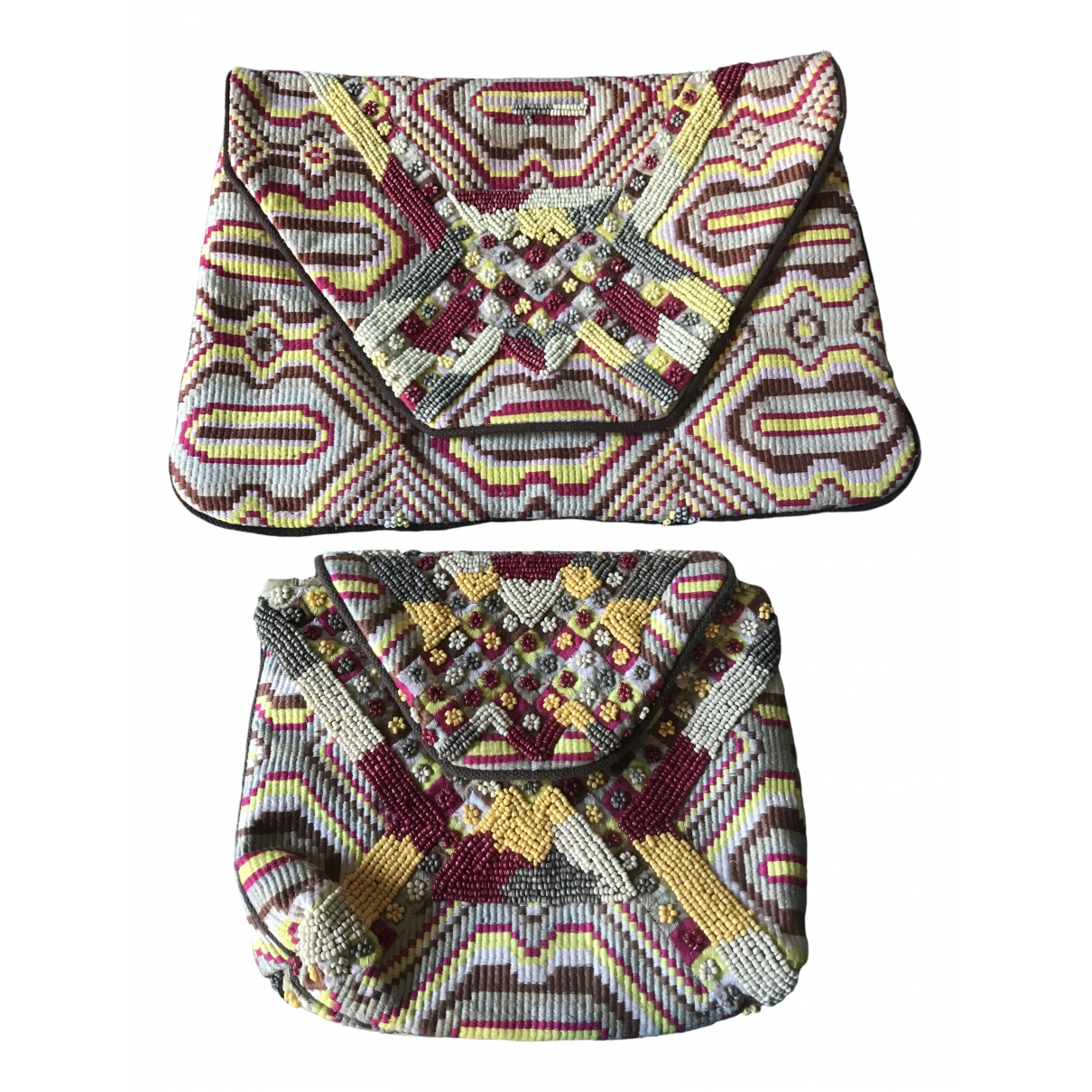 Antik Batik \N Clutch in  Beige Baumwolle