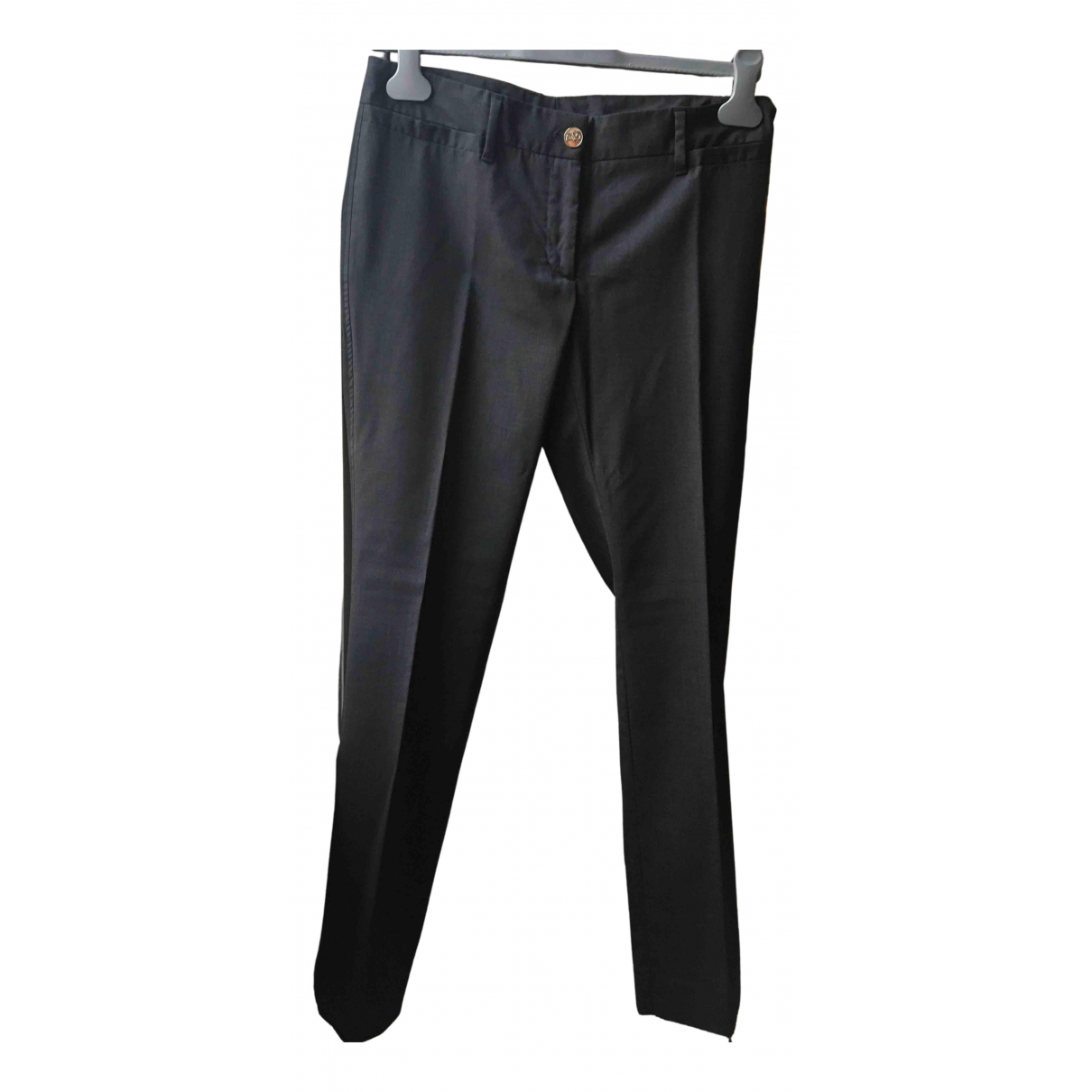 Dolce & Gabbana N Anthracite Wool Trousers for Women 42 IT