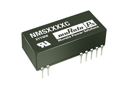 Murata Power Solutions NMS 2W Isolated DC-DC Converter Through Hole, Voltage in 4.5 → 5.5 V dc, Voltage out ±15V