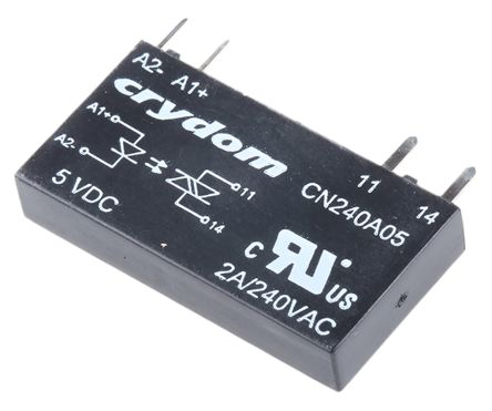 Sensata / Crydom 2 A Solid State Relay, Zero Cross, PCB Mount, 280 V ac Maximum Load