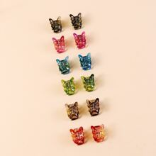 6pairs Butterfly Decor Hair Claw