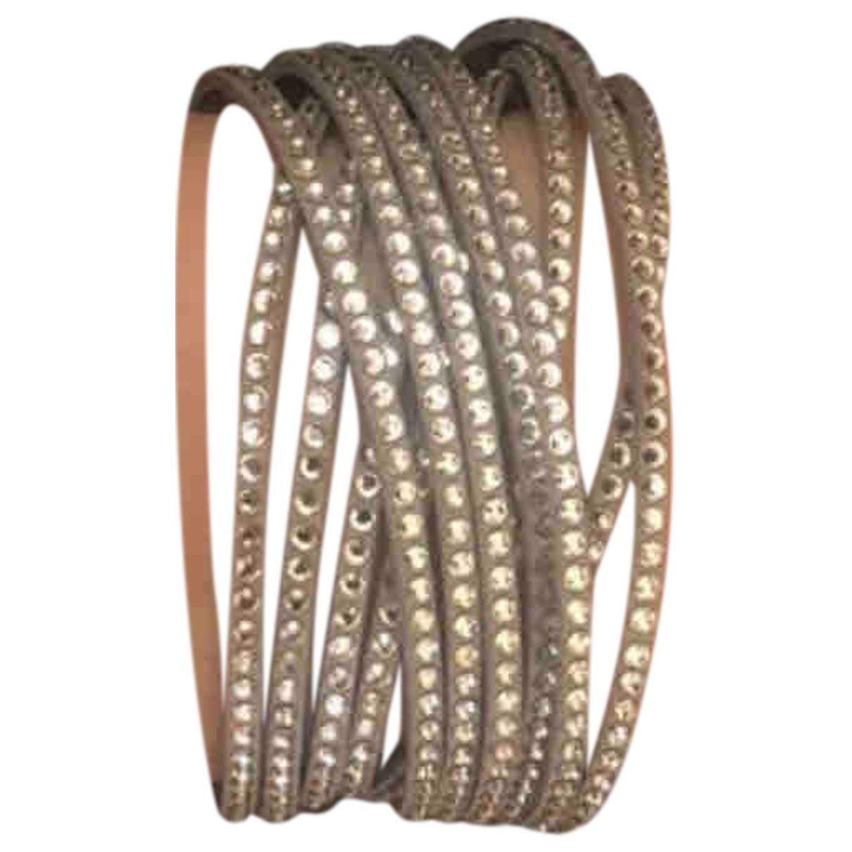 Swarovski Slake Armband in  Grau Leder