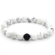 Herren Marmor Muster Perlen Armband