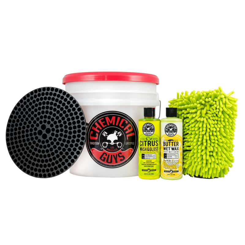 Wash And Car Wax Detailing Bucket Kit - Chemical Guys