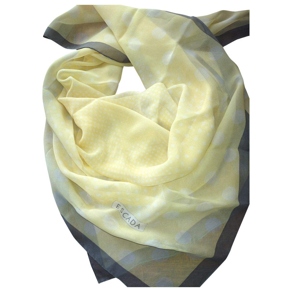 Escada \N Yellow Silk Silk handkerchief for Women \N