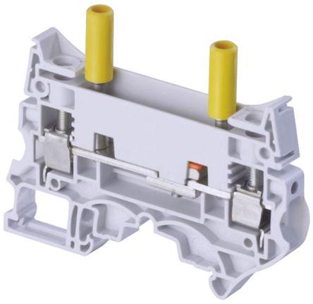 Entrelec , SNK, 630 V ac Test Disconnect Terminal Block, Screw Termination, Grey (5)