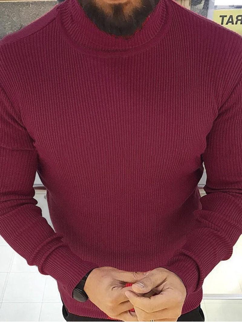Ericdress Turtleneck Standard Plain Slim Sweater