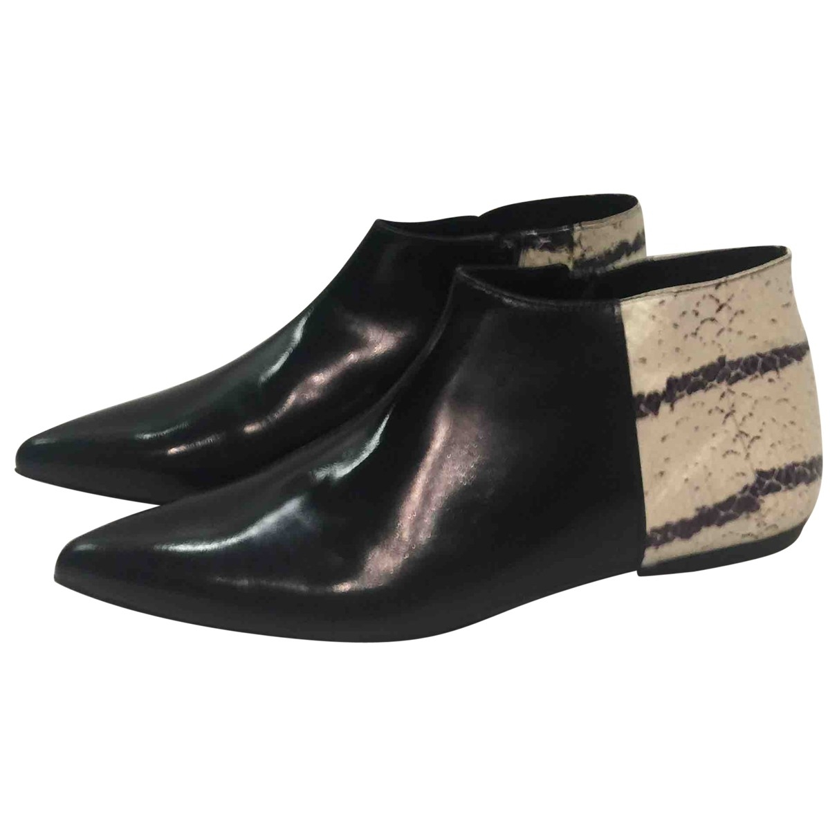 Pierre Hardy \N Black Leather Ankle boots for Women 38 EU