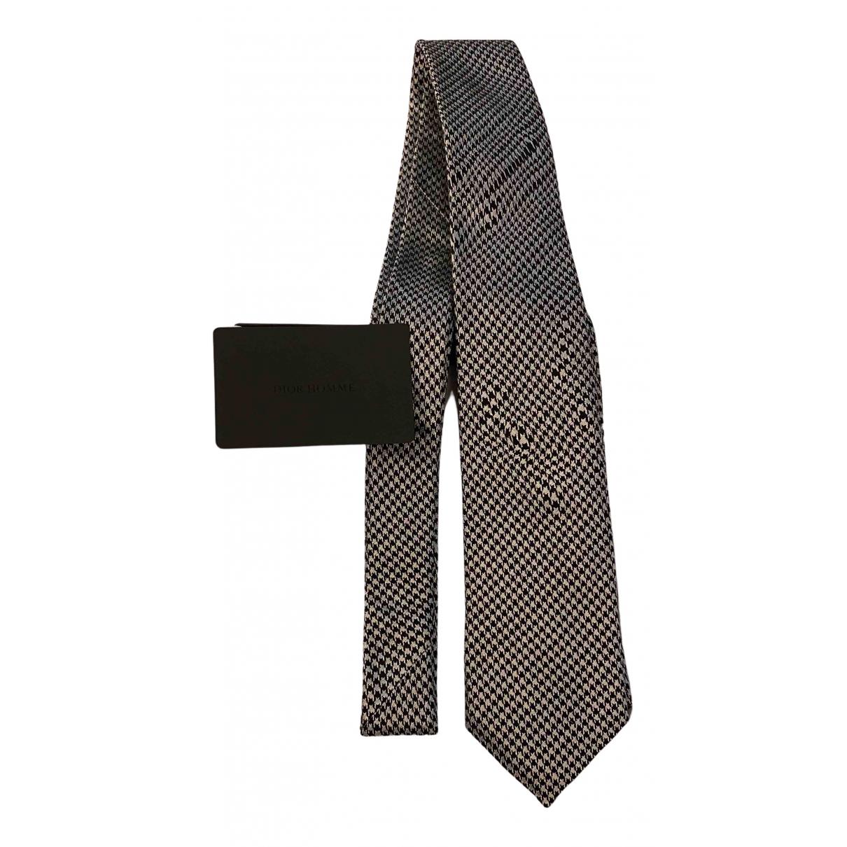 Dior Homme - Cravates   pour homme en soie - gris