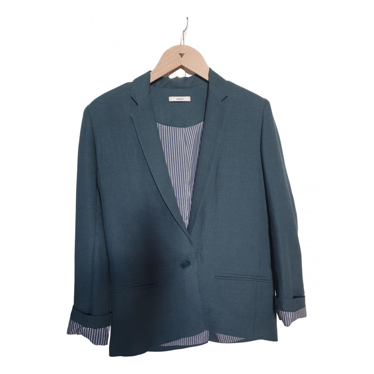 Sessun \N Jacke in  Gruen Polyester