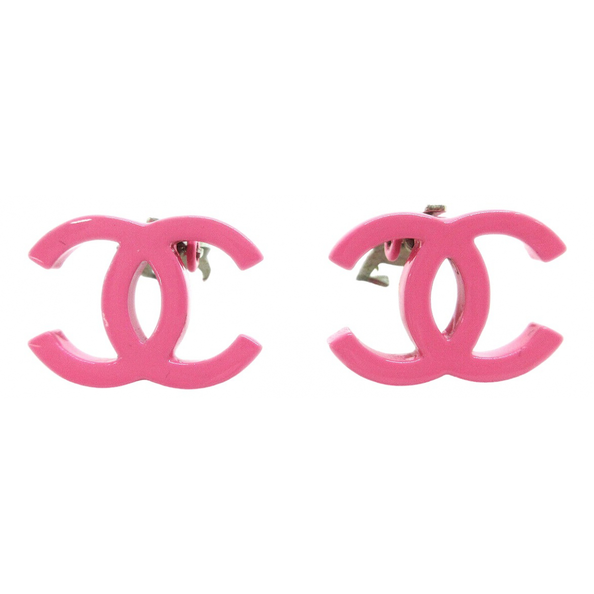 Chanel \N OhrRing in  Rosa Metall