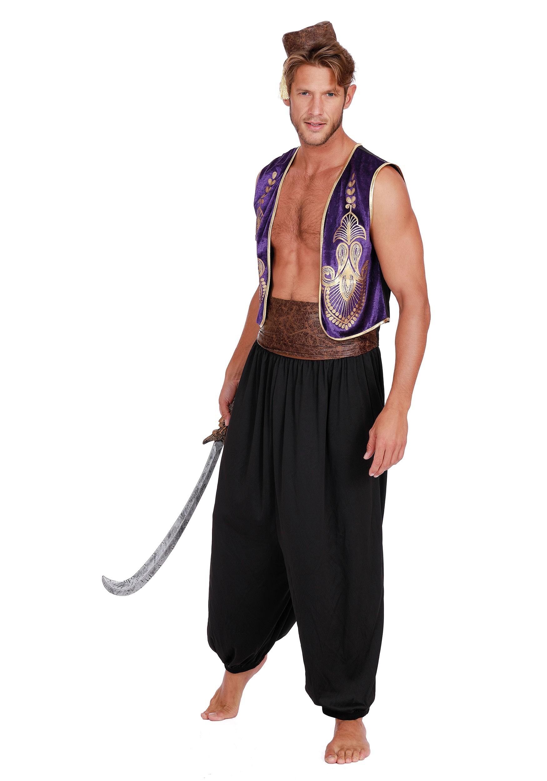 Men's Arabian Prince Costume With Accessory