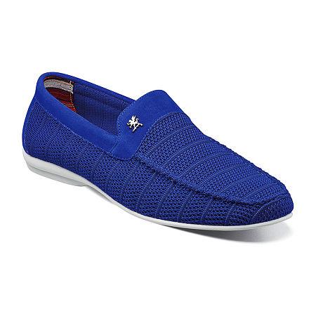 Stacy Adams Mens Ciran Slip-On Shoe, 10 1/2 Medium, Blue