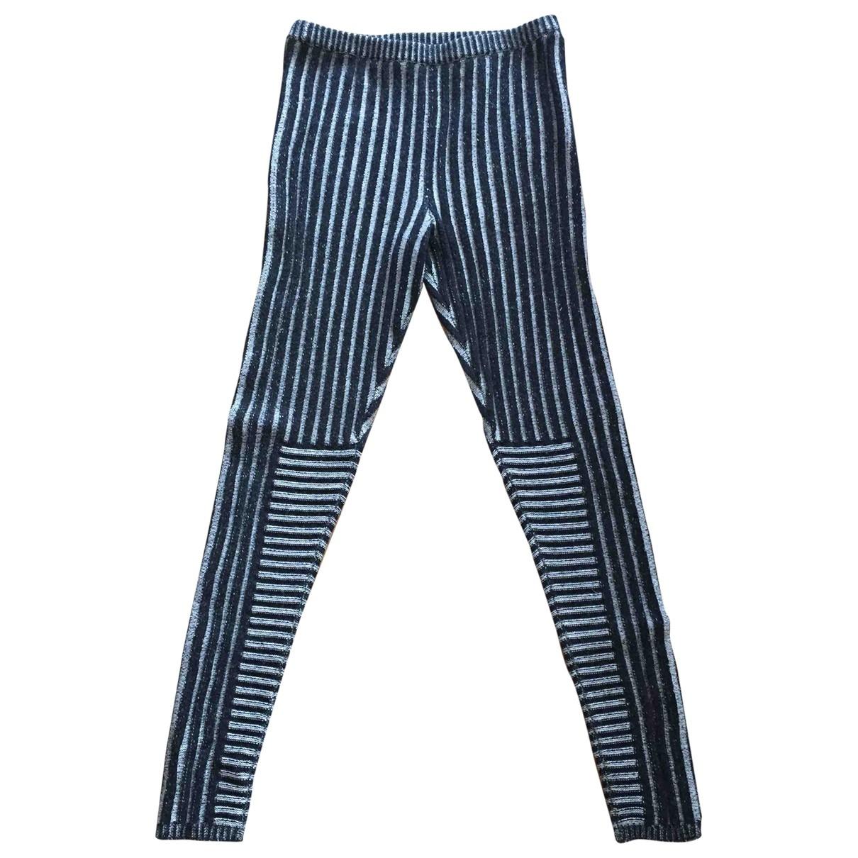 Joseph \N Grey Wool Trousers for Women 38 FR
