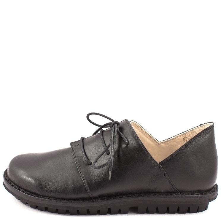 Trippen, Haferl m Closed Men's Lace-up Shoes, black Größe 42