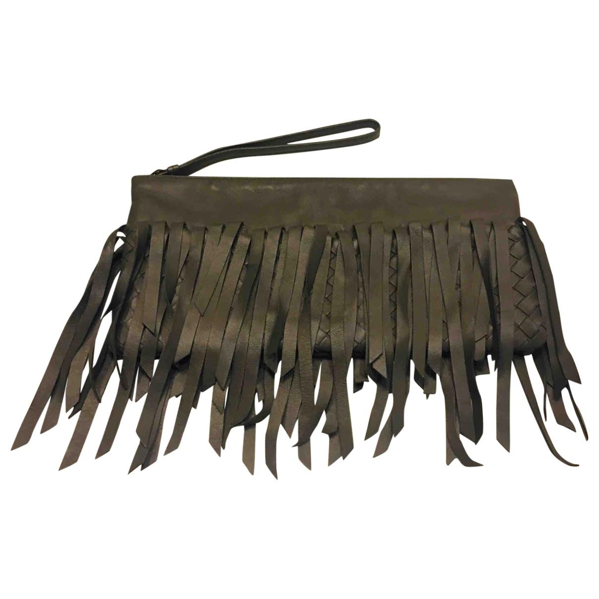 Bottega Veneta \N Grey Leather Clutch bag for Women \N