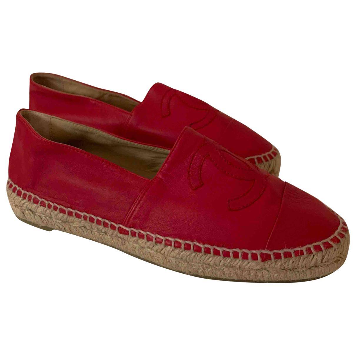 Chanel \N Espadrilles in  Rot Leder