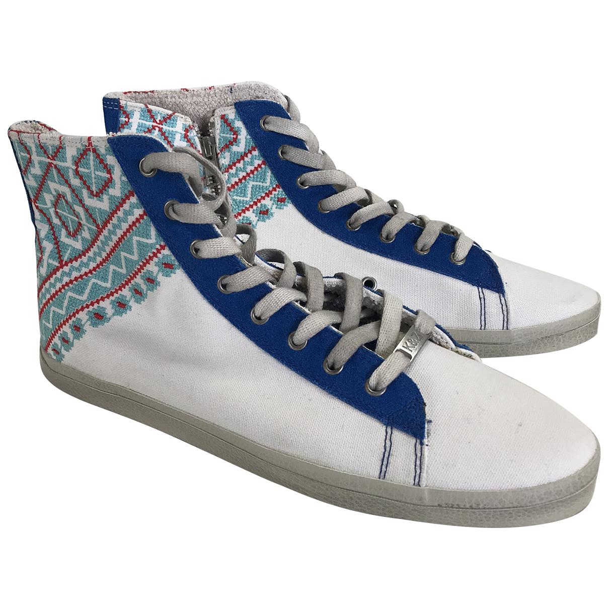 Kim & Zozi \N Sneakers in  Weiss Leinen