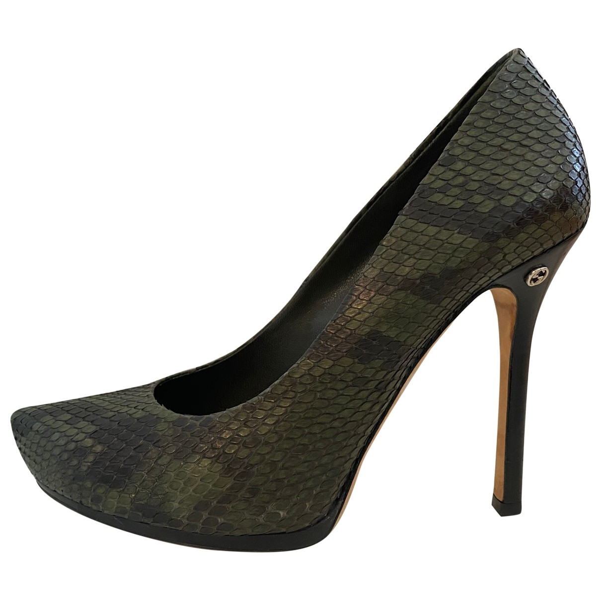 Gucci \N Multicolour Python Heels for Women 37.5 EU