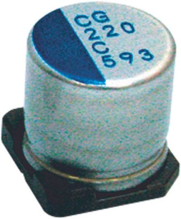 Nichicon 470μF Polymer Capacitor 16V dc, Surface Mount - PCG1C471MCL1GS (5)