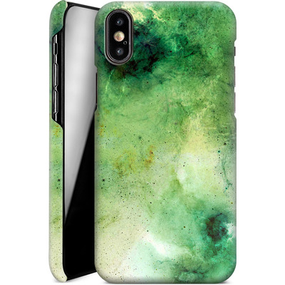 Apple iPhone X Smartphone Huelle - Abstract Galaxy - Green von Barruf