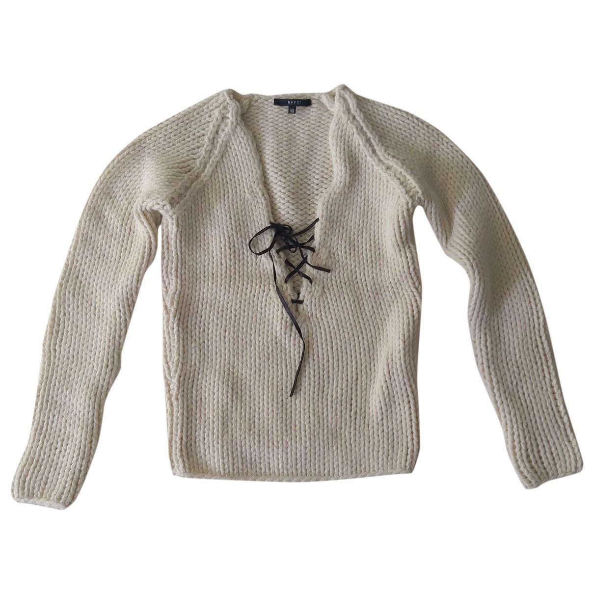 Gucci \N White Wool Knitwear for Women XS International