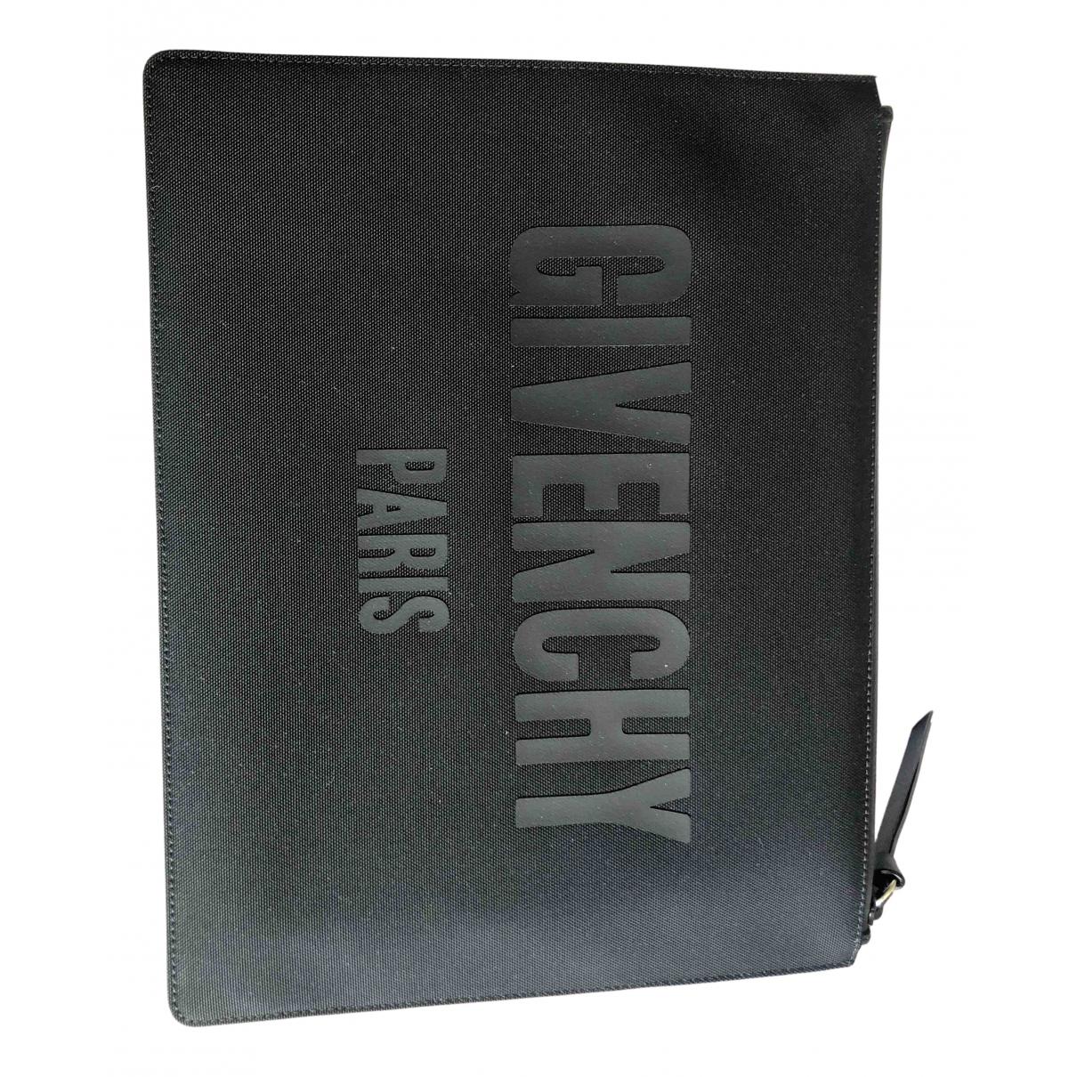 Givenchy \N Clutch in  Schwarz Baumwolle