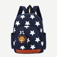 Kids Star Print Nylon Backpack