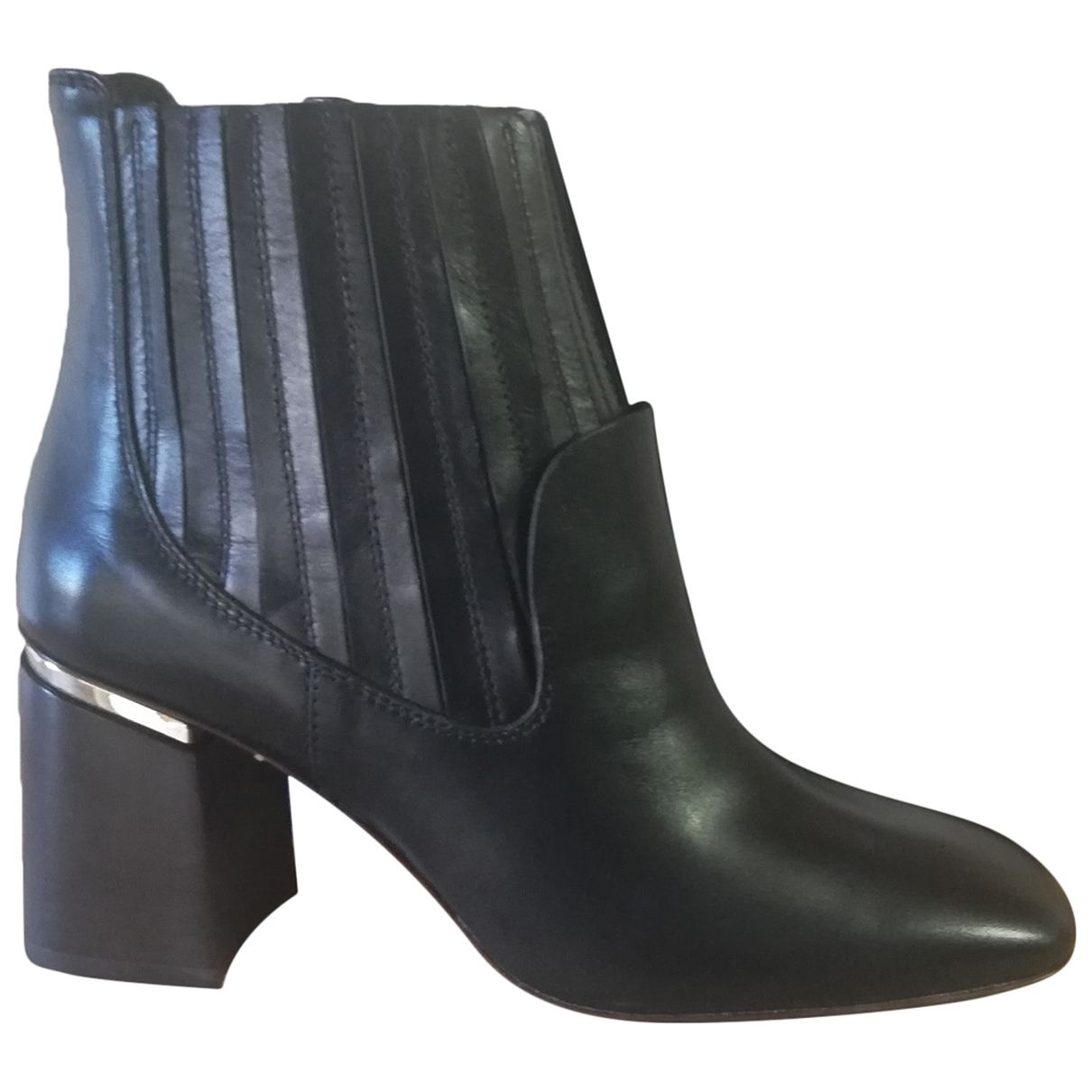 Tod's N Black Leather Boots for Women 37 EU