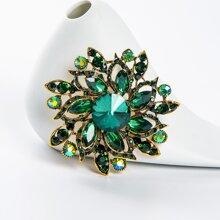 Crystal Flower Design Brooch