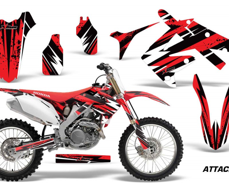 AMR Racing Dirt Bike Graphics Kit Decal Sticker Wrap For Honda CRF250R 2010-2013áATTACK RED