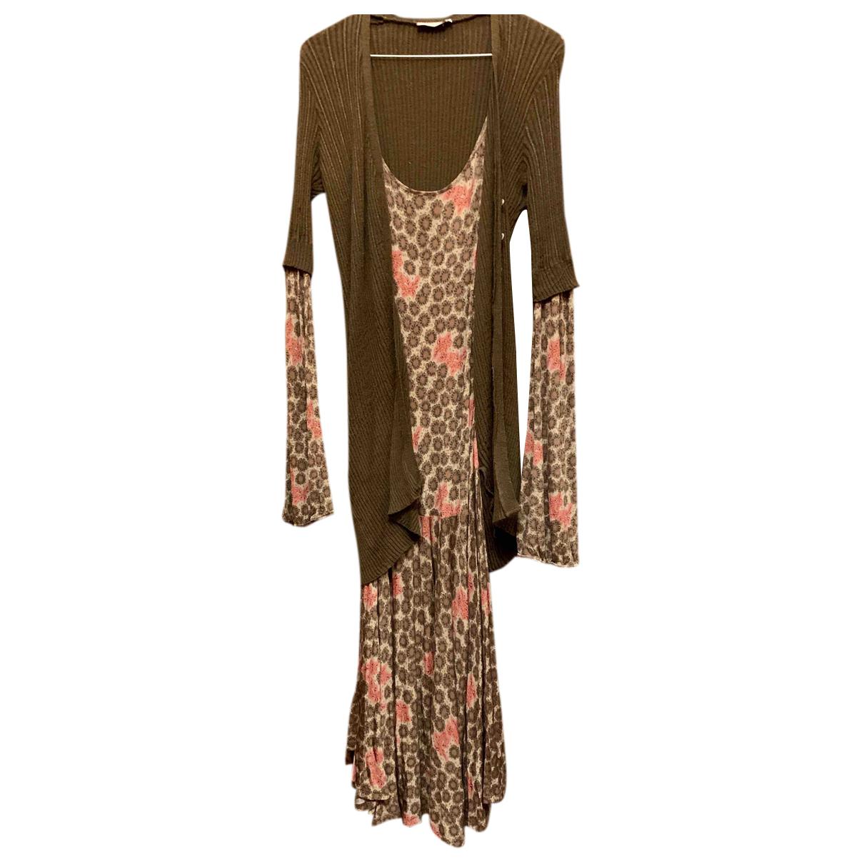 Max & Co - Robe   pour femme en coton - marron