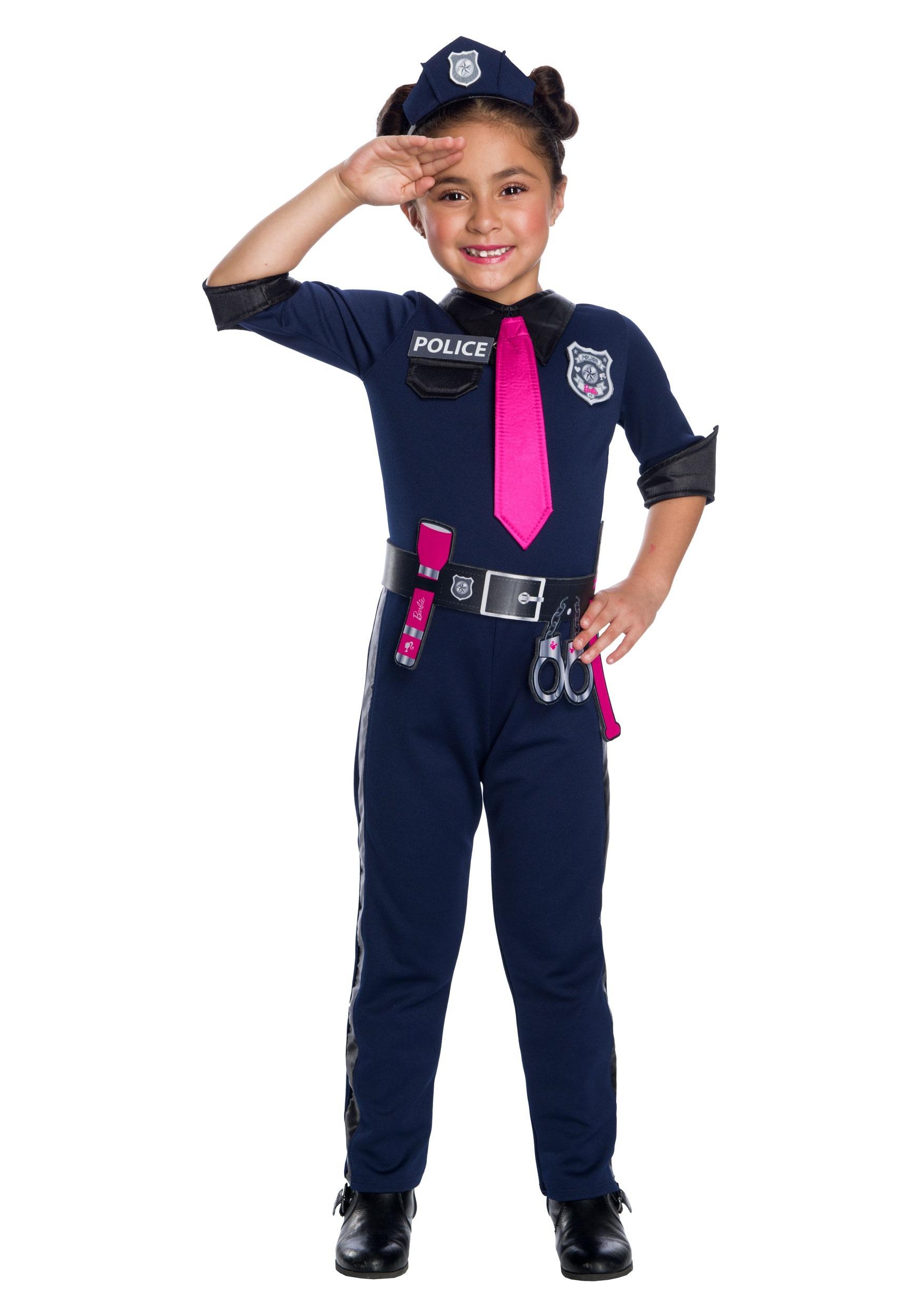 Barbie Police Officer Girl's Costume