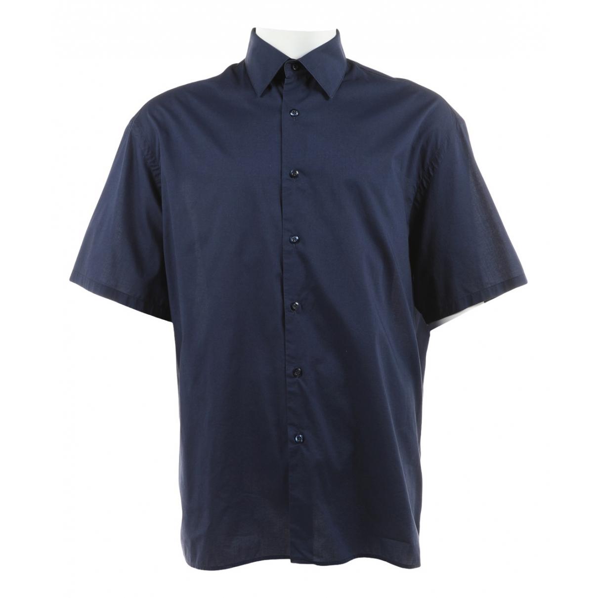 Prada \N Navy Cotton Shirts for Men 43 EU (tour de cou / collar)