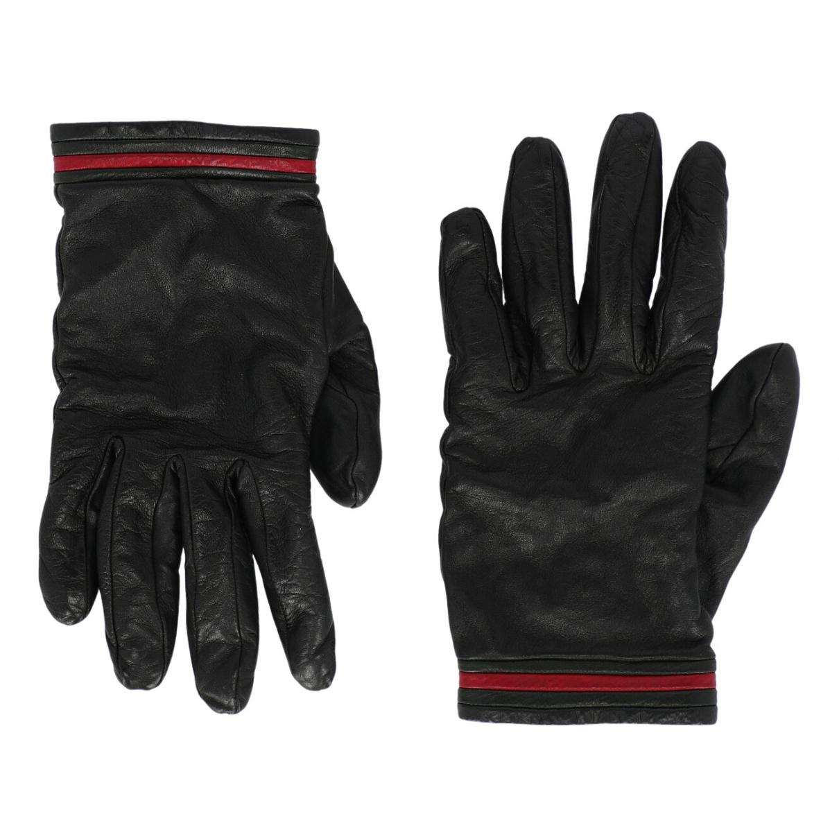Gucci \N Handschuhe in  Schwarz Leder