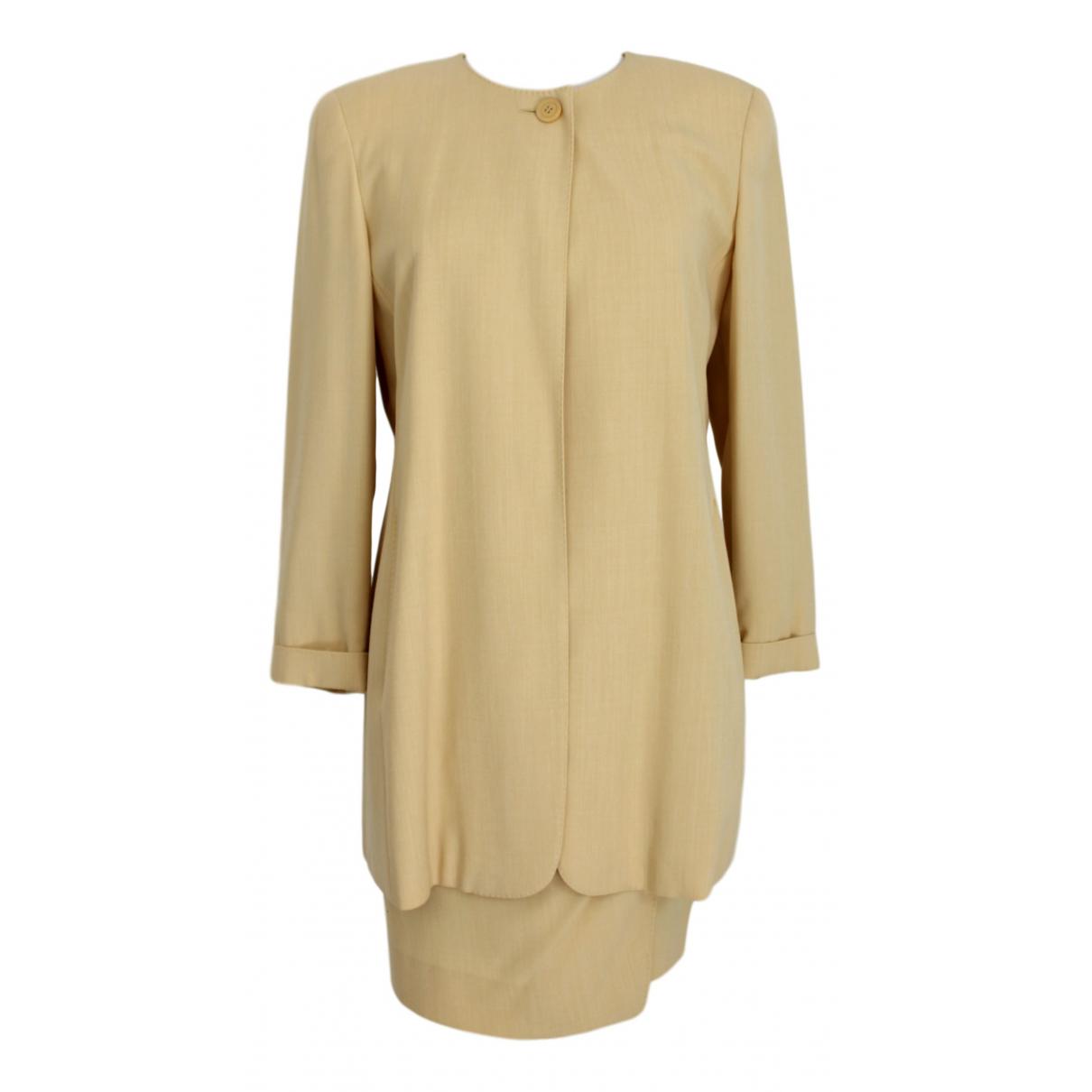 Max Mara - Jupe   pour femme en laine - jaune