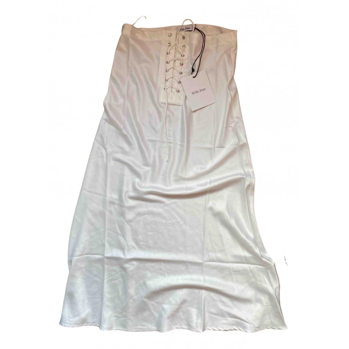 With Jéan N White Silk skirt for Women XS International