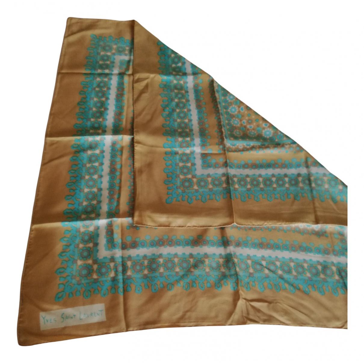 Saint Laurent N Beige Silk scarf for Women N