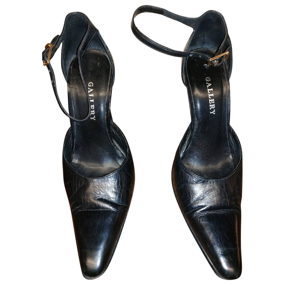 Dress Gallery \N Pumps in  Schwarz Leder