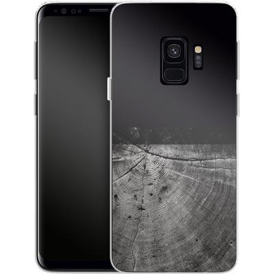 Samsung Galaxy S9 Silikon Handyhuelle - Wood Grain Slice von caseable Designs