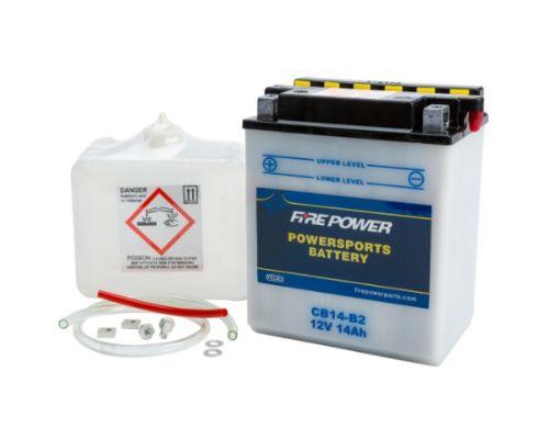 Fire Power Parts 490-2208 Battery W/Acid Cb14-B2 12v Heavy Duty 490-2208
