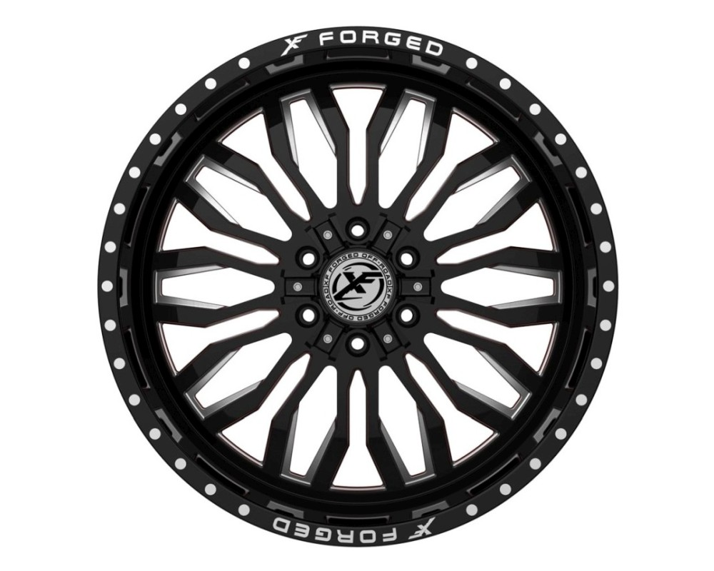 XF Off-Road XFX-305 Wheel 20x10 6x135|6x139.7 -24mm Gloss Black Milled w/ Red Inner
