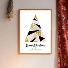 Christmas Slogan Graphic Wall Painting Without Frame