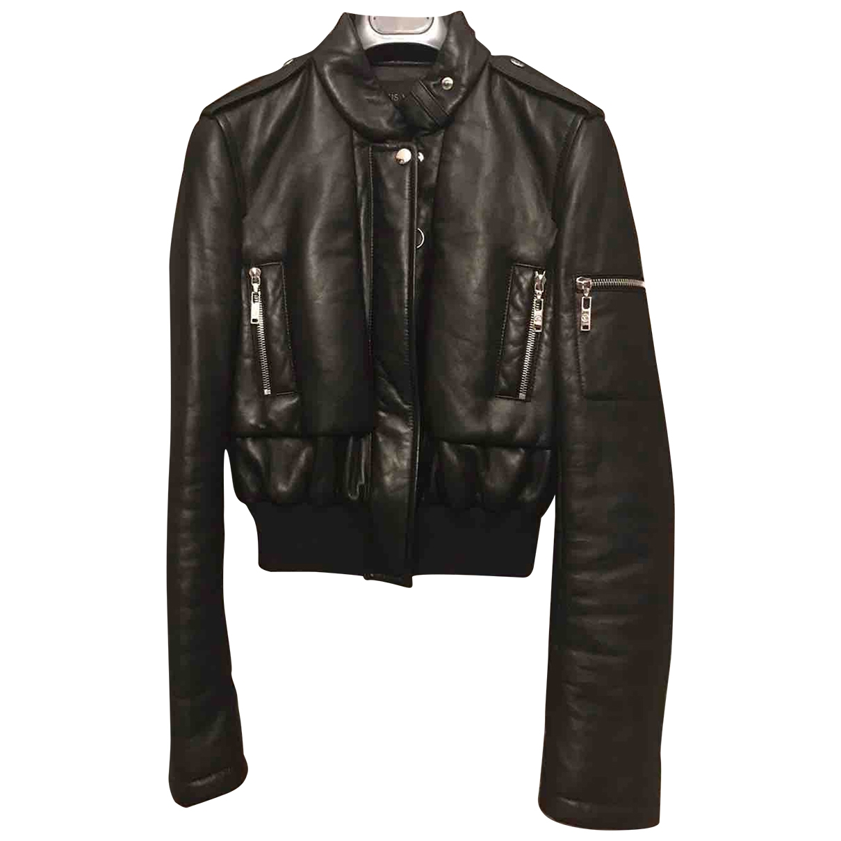 Louis Vuitton \N Black Leather Leather jacket for Women 34 FR